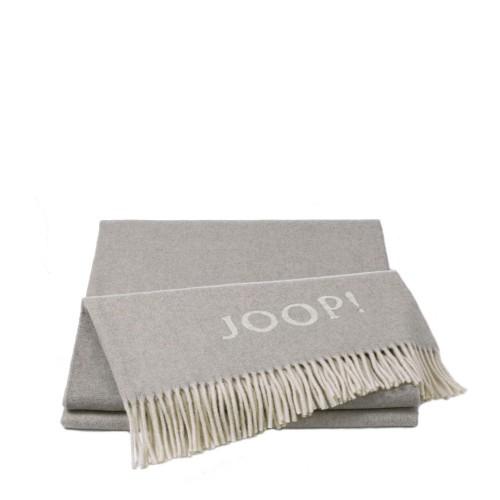 JOOP! Wool Fine Silver pled wełniano-kaszmirowy