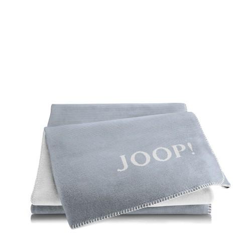 JOOP! Melange Blue-Silver dwustronny koc bawełniano-akrylowy