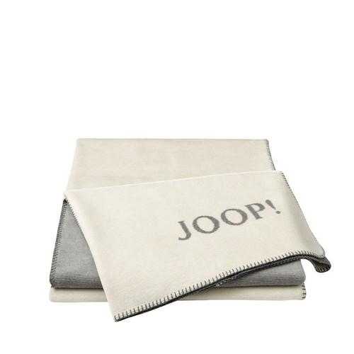 JOOP! Melange Natur-Silver dwustronny koc bawełniano-akrylowy