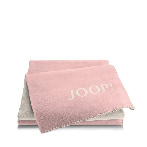 JOOP! Melange Rose-Natur dwustronny koc bawełniano-akrylowy