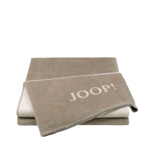 JOOP! Melange Sand-Natur dwustronny koc bawełniano-akrylowy