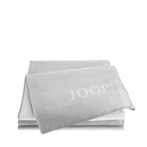 JOOP! Melange Silver-Grey dwustronny koc bawełniano-akrylowy