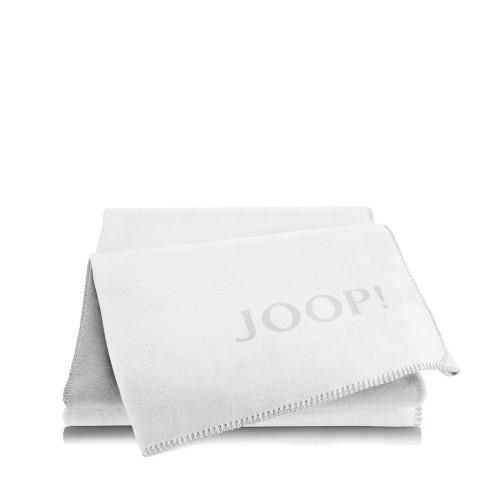 JOOP! Doubleface Uni Natur Frost dwustronny koc bawełniano-akrylowy