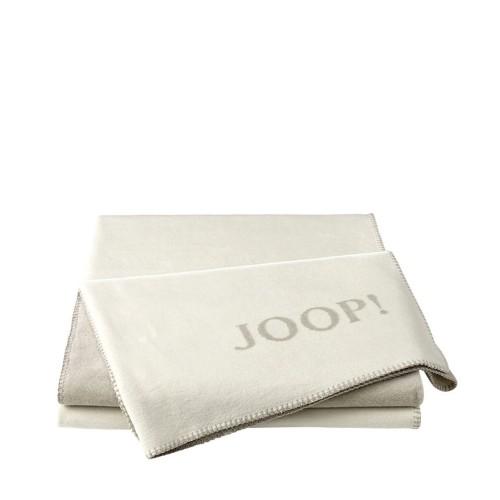 JOOP! Doubleface Uni Ecru Beige dwustronny koc bawełniano-akrylowy