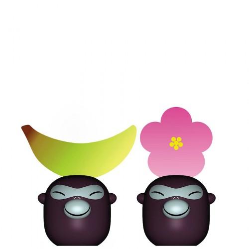 A di Alessi Banana Babies komplet dwóch wizytowników na stół