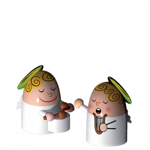 A di Alessi Angels Band porcelanowe figurki, 2 szt
