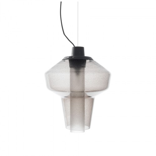 Diesel Foscarini Metal glass 1 lampa wisząca, kolor szary