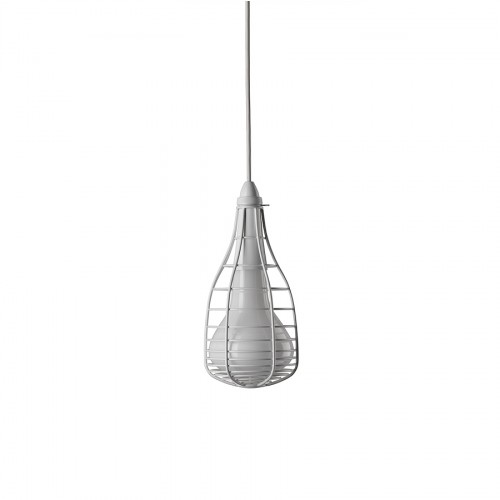 Diesel Foscarini Cage Mic lampa wisząca, kolor biały