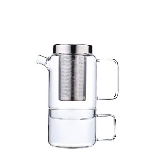 Bredemeijer Salerno Dzbanek do herbaty z filiżanką