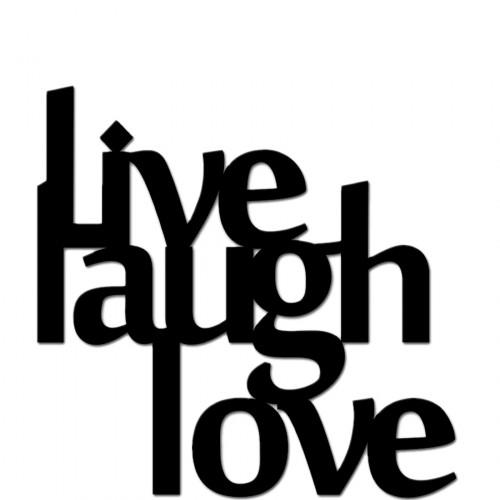 DekoSign Live laugh love napis dekoracyjny