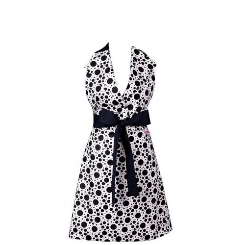 Mavia Charlotte Czarne groszki Apronessa jak sukienka