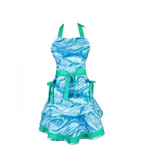 Mavia Lalla Salama Morskie Fale Apronessa jak sukienka