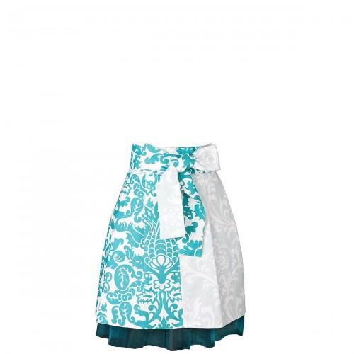 Mavia Victoria Błękitne ornamenty Apronessa jak spódnica na tiulu