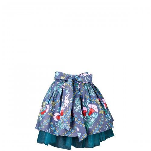 Mavia Mała księżniczka Tiul i kwiaty błękitne i szare apronessa dla dziewczynek