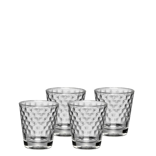 WMF CoffeeTime zestaw kubków szklanych ze strukturą plastra miodu, 4 szt.