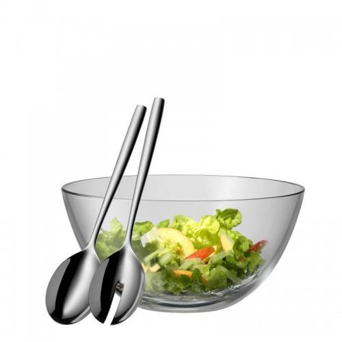 WMF Taverno szklana miska z łyżkami do sałaty