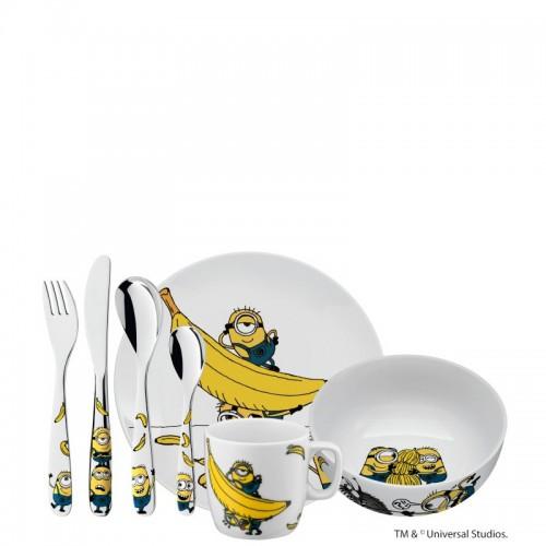 WMF Minionki Zestaw obiadowy dla dzieci, 7 elementów