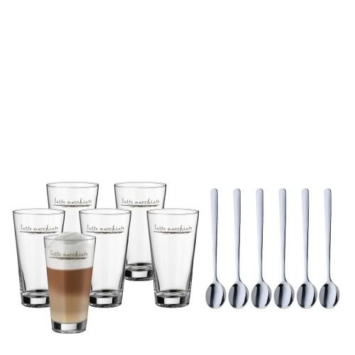 WMF WMF szklanki do latte macchiato z łyżeczkami