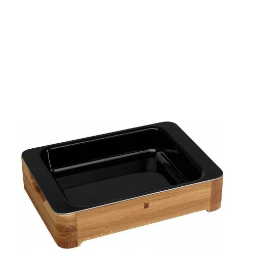 WMF Fusiontec Naczynie do pieczenia z drewnianą ramą i szklaną pokrywą