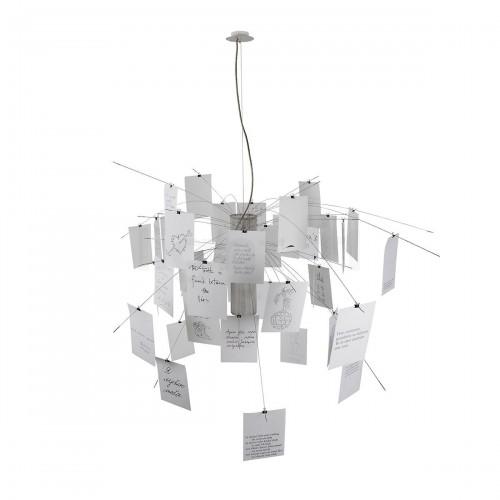 Ingo Maurer Zettelz 6 lampa wisząca