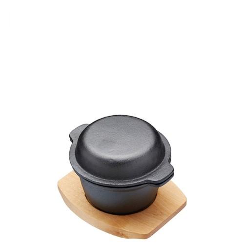 Kitchen Craft Artesa naczynie żeliwne mini z pokrywką z deską do serwowania