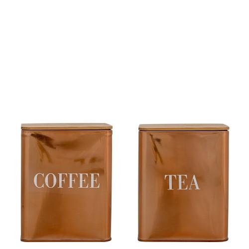 Bloomingville Coffee Tea pojemnik na kawę i herbatę 2 szt