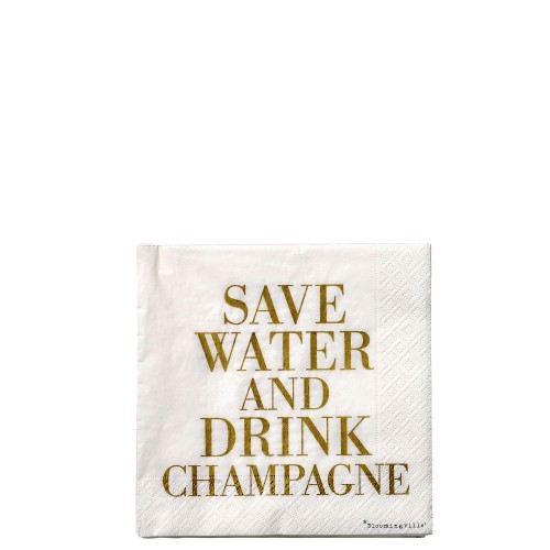 Bloomingville Save water serwetki