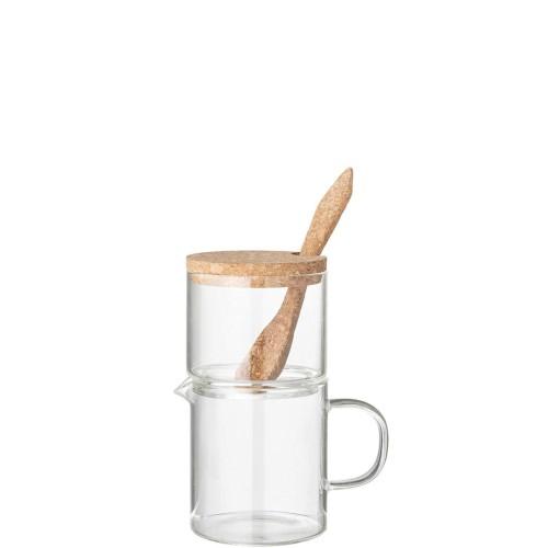 Bloomingville Milk Jug & Sugar Cukiernica z mlecznikiem