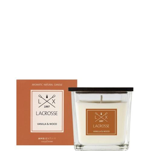 LACROSSE VANILLA & WOOD Świeca zapachowa