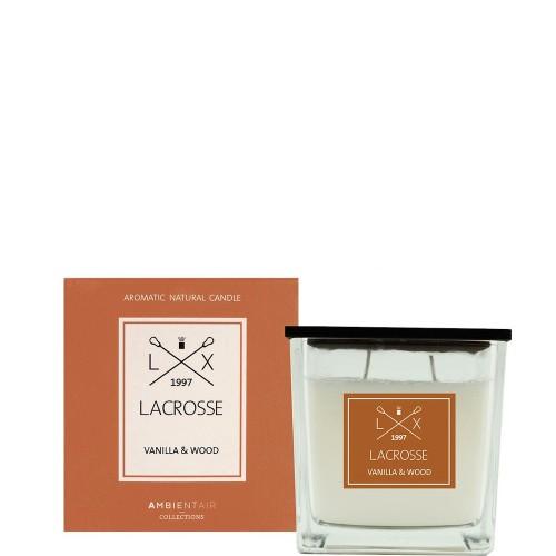 LACROSSE VANILLA&WOOD Świeca zapachowa