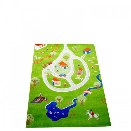 IVI Carpets Wioska Dywan 3D - zielony