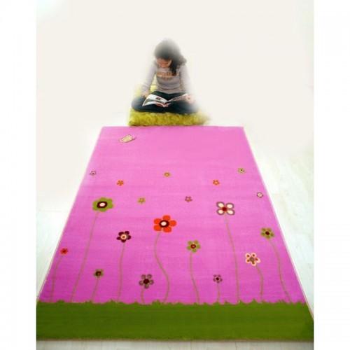 IVI Carpets Wiosenne kwiaty Dywan Soft Play - różowy