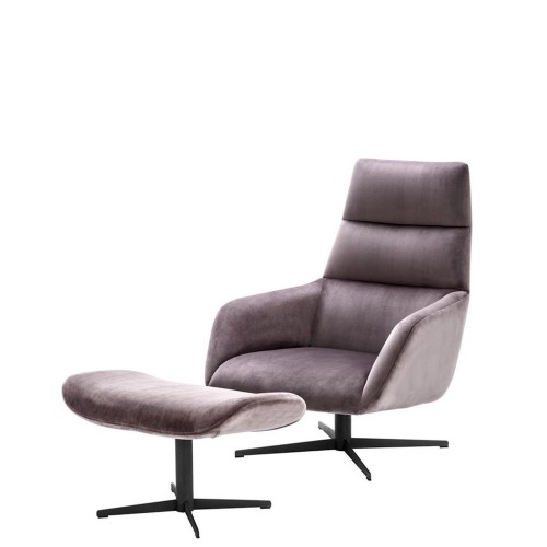 Eichholtz Nautilus Krzesło obrotowe + podnóżek
