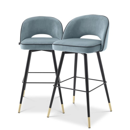 Eichholtz Cliff komplet dwóch krzeseł barowych