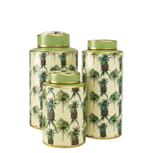 Eichholtz Pineapple waza dekoracyjna, 3 szt.