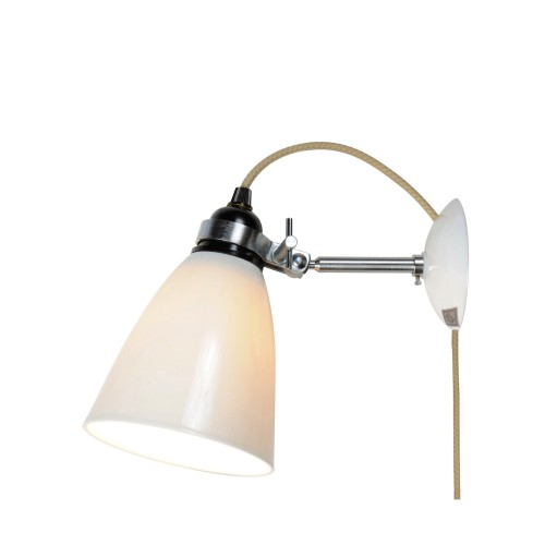 Original BTC Hector Medium Dome Natural lampa ścienna, kinkiet