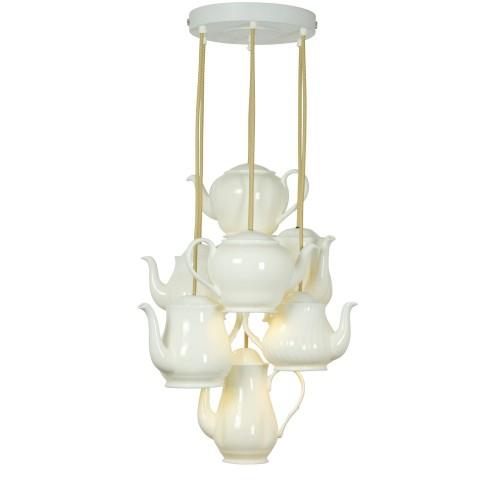 Original BTC Teapot Pendant Grouping of Seven Lampa wisząca