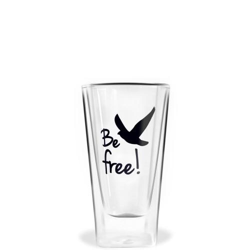 Vialli Design Vita szklanka wysoka z podwójną ścianką Be free