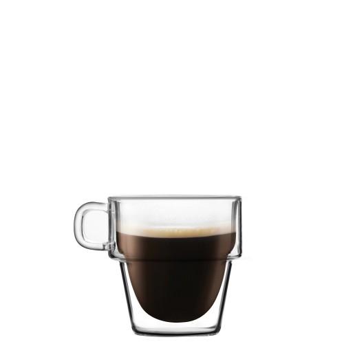 Vialli Design Senso Komplet 6 szklanek do espresso z podwójną ścianką