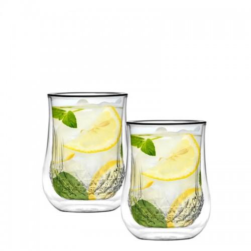 Vialli Design Diamante zestaw 2 szklanek z podwójną ścianką