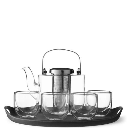 VIVA Scandinavia Bjorn Zestaw do herbaty z tacą i szklankami