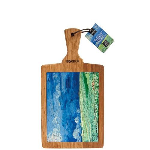 Boska Van Gogh-Pole pszenicy przed burzą Deska do sera