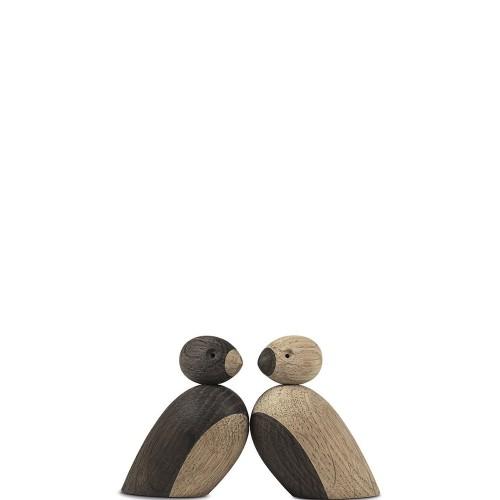 Kay Bojesen Para wróbli Dekoracja drewniana