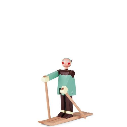 Kay Bojesen narciarz Boje Figurka drewniana