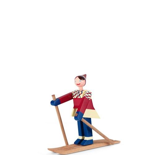 Kay Bojesen narciarz Datti Figurka drewniana