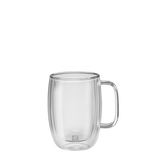 Zwilling Sorrento Plus zestaw dwóch szklanek do latte macchiato z uchwytem