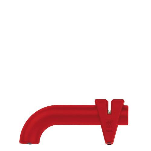 Zwilling Twin Sharp stalowo-ceramiczna ostrzałka krążkowa czerwona
