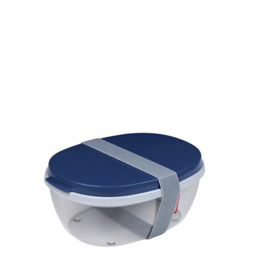 Mepal Ellipse Saladbox pojemnik na sałatki, Nordic Denim