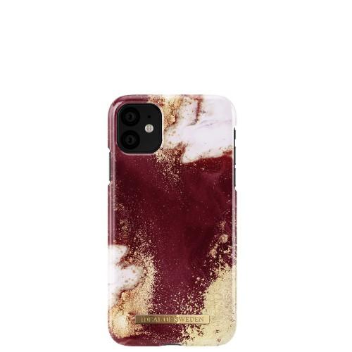 iDeal of Sweden Golden Burgundy Marble Etui ochronne do iPhone 11