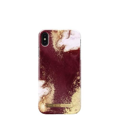 iDeal of Sweden Golden Burgundy Marble Etui ochronne do iPhone Xs Max
